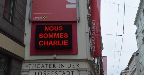 """ãNOUS SOMMES CHARLIEÒ: LESUNG """"Toleranz - Meinungsfreiheit - Menschenrecht"""" im Theater in der Josefstadt am 25. JŠnner 2015, 11:00 Uhr"""